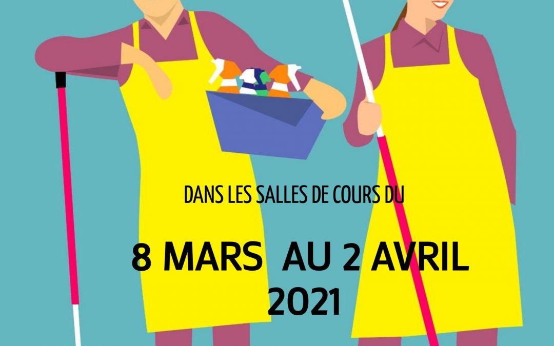 Prochaine formation POEI  Intervenante Ménage à Domicile : 8 Mars 2021 !